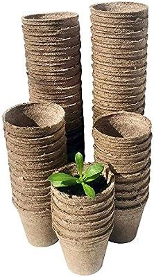 SunniY Macetas biodegradables Copa vivero Productos de Pulpa ...