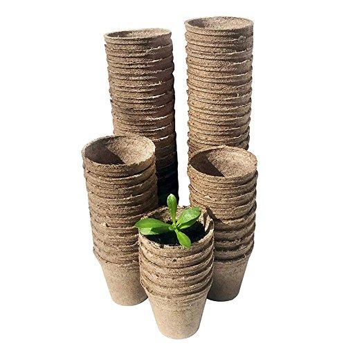 - Luerme 100Pcs Biodegradable Pulp Pots Plants Seedling Raising Pot Vegetable Fruit Nursery Tray Pot Cup Garden Supplies 88cm