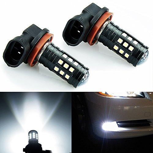 JDM ASTAR 1200 Lumens Extremely Bright 2828 Chipsets H11 H8 LED Bulbs for DRL or Fog Lights, Xenon White (H11 H8)