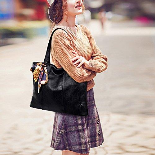 Mujer Nuevo La Bolsa De Asas Accesorios De Moda Bufandas Europa Bolsas De Hombro Bolsos Bolsa Black