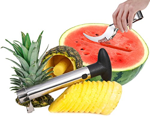 Buy Me A Pineapple Corer and Watermelon Slicer - Stainless Steel Pineapple Cutter Peeler (Cor Bowl Fruit)