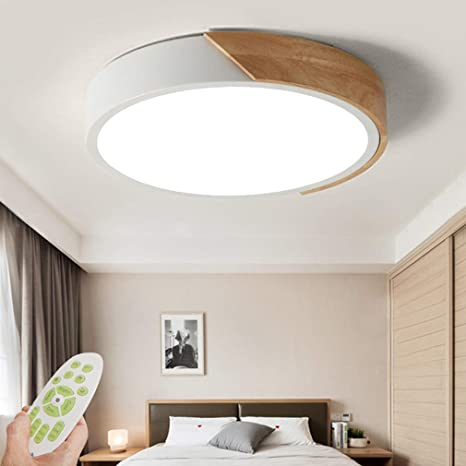 LED Modern Design Ceiling Light Dimmable Bedroom Lamp with Remote