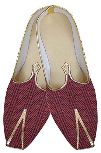 Boda Zapatos Granate Hombres de Tradicional INMONARCH India MJ0151 A6tnOO
