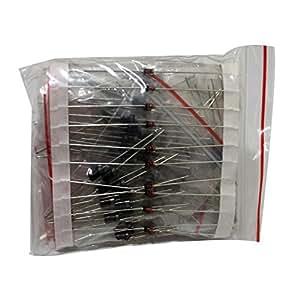 100 pcs Rectifier Diode Tape kit,1N4148 1N4007 1N5819 1N5399 FR107 FR207 1N5408 1N5822