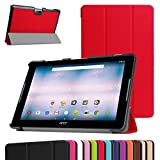 "Acer Iconia One 10 B3-A30 Slim Shell Case,Mama Mouth Ultra Lightweight PU Leather Standing Cover For 10.1"" Acer Iconia One 10 B3-A30 Android Tablet, Red"
