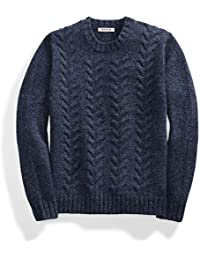 Men's Lambswool Cable Crewneck Sweater
