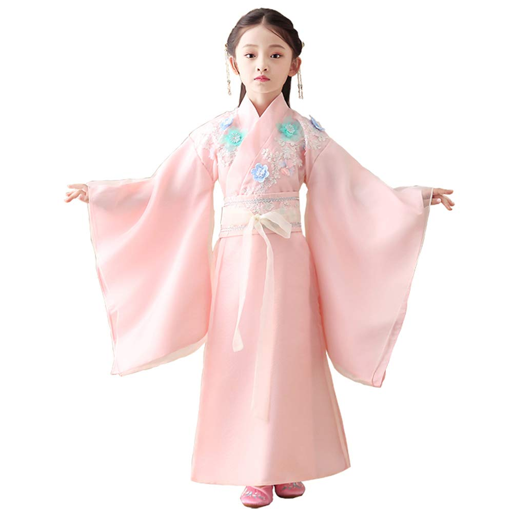 FXNN Hanfu-Chinese Ancient Costume Princess Chaise Costumes (Color : Pink, Size : 120cm) by FXNN