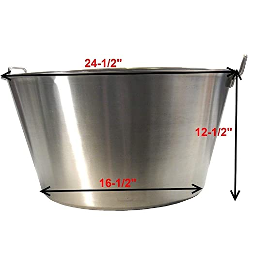 Amazon.com: Thaweesuk Shop Extra Large Stainless Steel Caso Cazo para Carnitas Gas Heavy Stove XL Wok NEW Top Outside 24.5