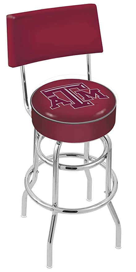 Amazoncom Texas Am Aggies Swivel Bar Stool With Back Sports