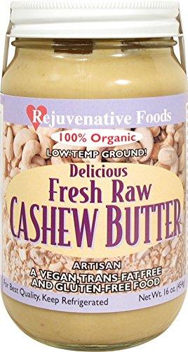 Fresh-Pure-Raw Smooth Creamy Cashew Butter Rejuvenative Foods Organic Certified Low-Temp-Ground Artisan-Ayurvedic-Vegan In-Glass Protein-Antioxidant-Vitamin-Mineral-Nutrition-8 (Raw Fusion)