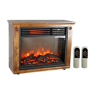 LifePro 3 Element Portable Electric Infrared Quartz Fireplace Heater | LS-1111HH