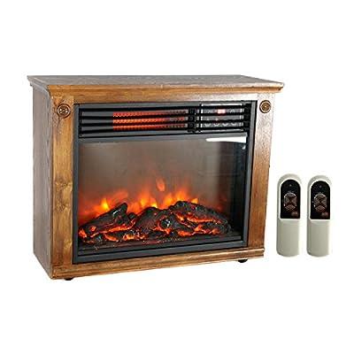 LifePro 3 Element Portable Electric Infrared Quartz Fireplace Heater | LS-1111HH