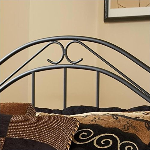 Hillsdale Furniture 164BTWR Winsloh Bed Set with with Rails, Twin, Black