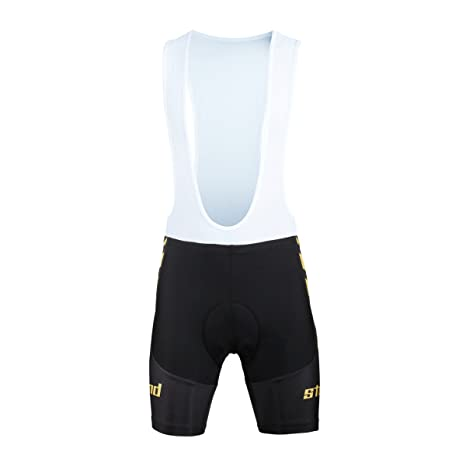 33fd74191 Paladin Men s Black Cycling Bib Shorts with Inner Padded Strongwind Pattern Bike  Jersey Size S