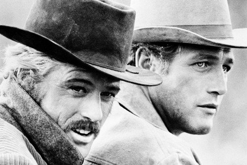 Butch Cassidy and The Sundance Kid Newman & Redford on horse together 24X36 Poster (Real Butch Cassidy And The Sundance Kid Photos)