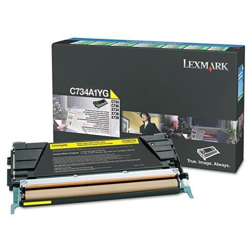 Price comparison product image Lexmark C748H1YG High-Yield Toner, 10000 Page-Yield, Yellow