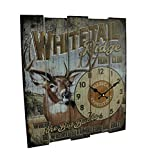 Cheap American Expedition Whitetail Ridge Hunt Club Wooden Clock, Large, Multicolor