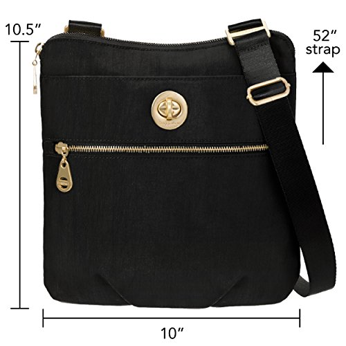 Removable Baggallini Lightweight Pocketed Travel Bag Hardware Crossbody Bag Wristlet Gold with Black Slim Hanover �C with Multi 6qp4wxg6