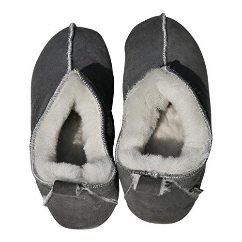 Gris Cuir Chaussons Mouton Chaussures Mouton Chaussons avec Femme Blanc Peau Hollert Peau Leather Véritable Homme Mocassins Laine Bali de de qwYUzO6