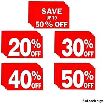 Amazon.com: 50 apagado signos tienda negocio señales en ...