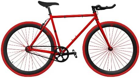 Zycle Fix ZF-RDDR-48 Red Dragon Fixed Gear Bike, 48cm/One Size Frame