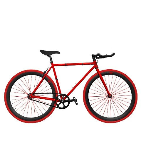 Zycle Fix ZF-RDDR-48 Red Dragon Fixed Gear Bike, 48cm/One Si