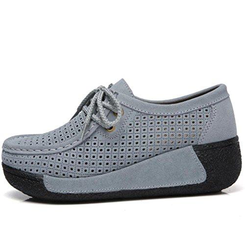 Moda Plataforma Para Zapatillas Calzado Espadrilles De Grandes Mujer Cordones Dama Paolian Tallas Otoño Náuticos Trabajo Baratos Hueco Cómodos Gris Zapatos Terciopelo zvvqrw0Bd