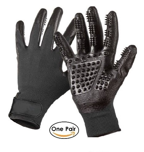 SheiPet Grooming gloves - Perfect hair remover for cat, dog, horses and any pet with long, short or curly hair - soft brush and massage glove by SheiPet (Image #7)