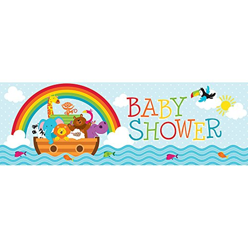 Creative Converting 317673 Noah's Ark Theme Baby Shower Party Banner]()