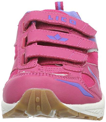 Lico Bob V - Zapatillas deportivas para interior de material sintético niña rosa - Pink (Pink/Lila)