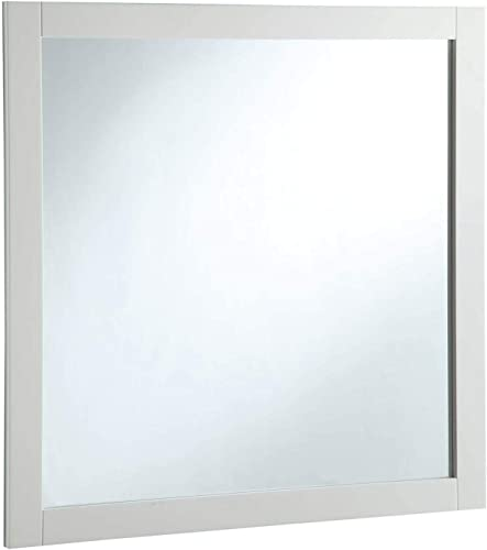 Design House Shorewood 547224 30-inch Vanity Mirror, Semi-Gloss White