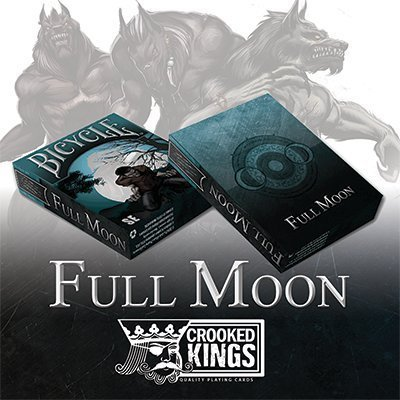 Bicycle Werewolf Full Moon Playing Cards (Special Edition) - Trick by Crooked Kings - Bicycle Deck Arcane