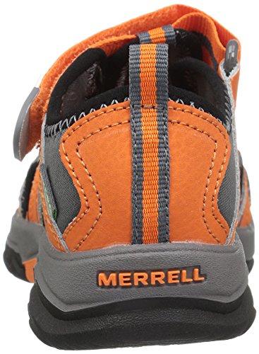 Merrell Hydro, Zapatillas Impermeables para Niños Multicolor (Orange/Grey)