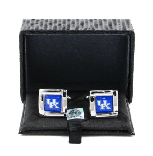 (aminco NCAA Kentucky Wildcats Square Cufflinks with Square Shape Logo Design Gift Box Set)