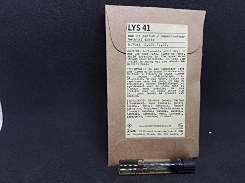 Le Labo Lys 41 Eau de Parfum 0.75 ml 0.025 oz Vial Sample Glass Splash New