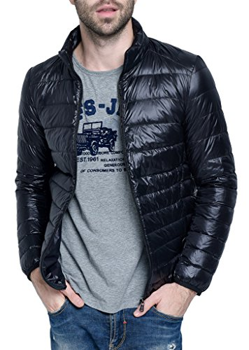 ght Packable Down Puffer Coat Stylish Outerwear Jacket Black US Large(Asian 3XL) (Amazon Sale)