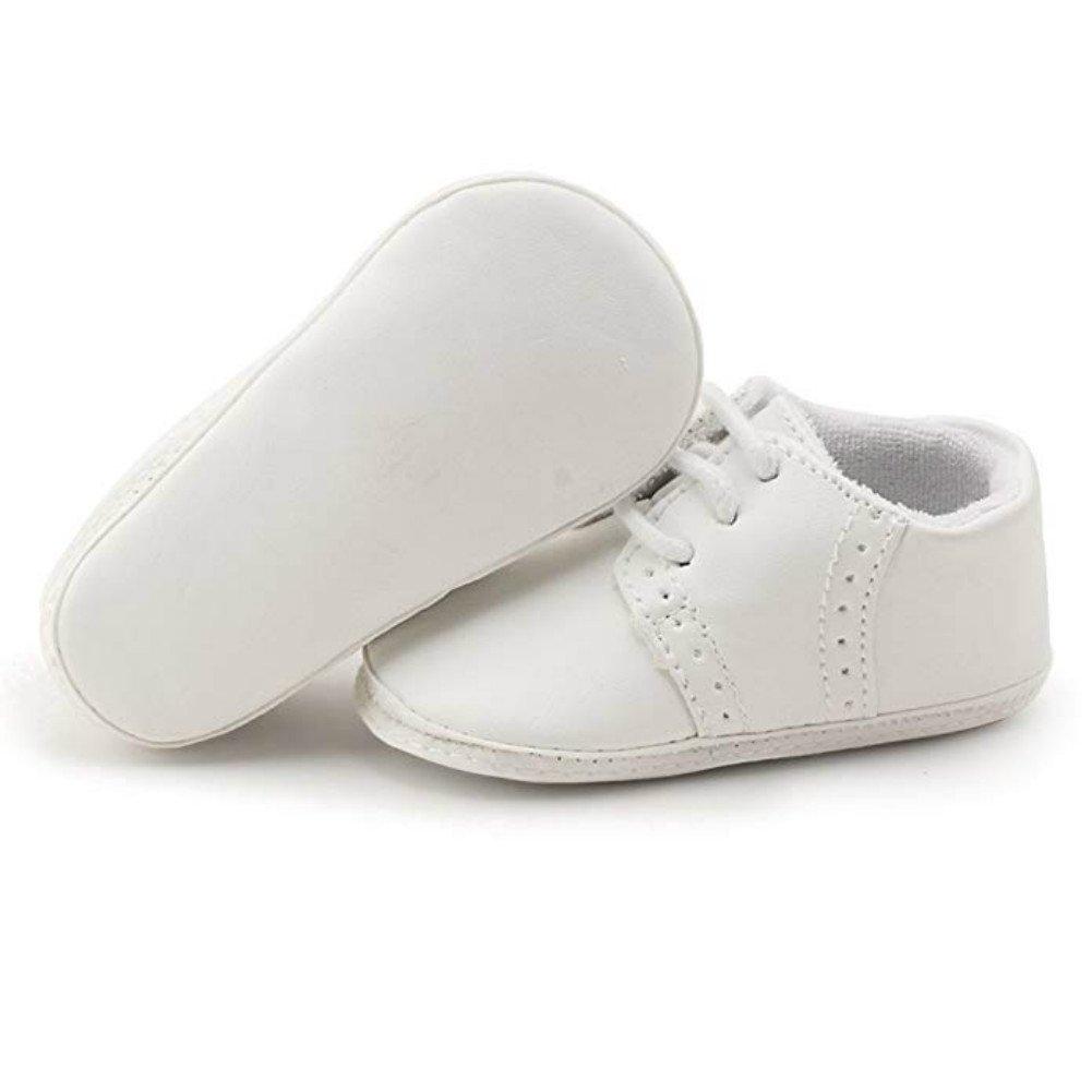 OOSAKU Baby Jungen Schuh Neugeborene erste gehende Schuhe weiche alleinige Lederne Turnschuhe