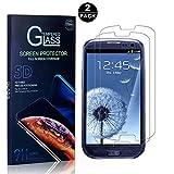 Galaxy S3 Screen Protector, Bear Village® Tempered Glass Screen Protector [Lifetime Warranty], HD Screen Protector Glass for Samsung Galaxy S3-2 PACK