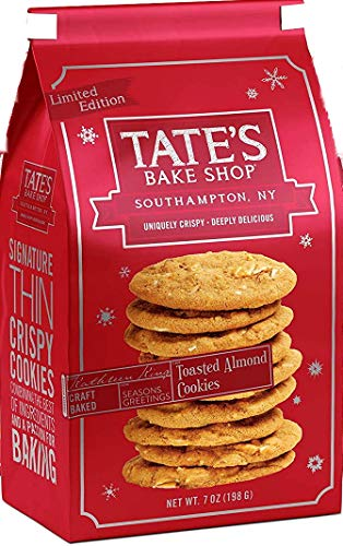 Tate's Bake Shop, Cookies Toasted Almond, 7 Ounce