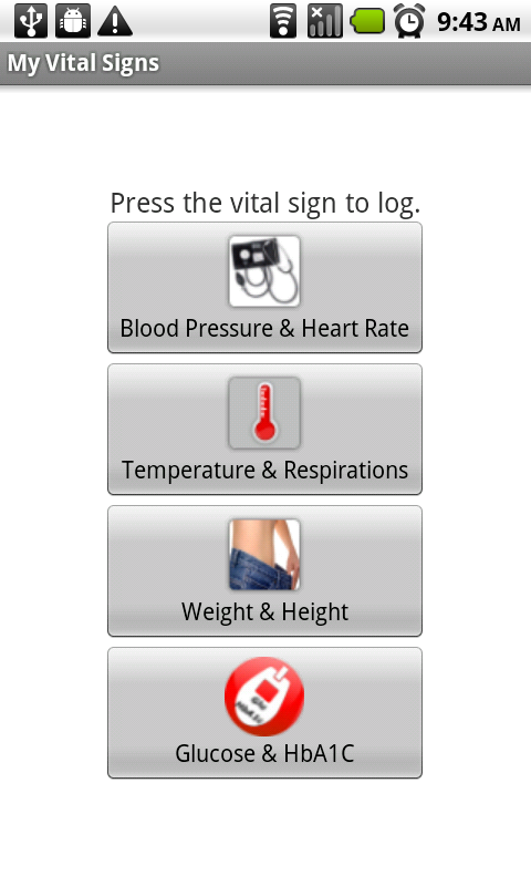 vital signs app android