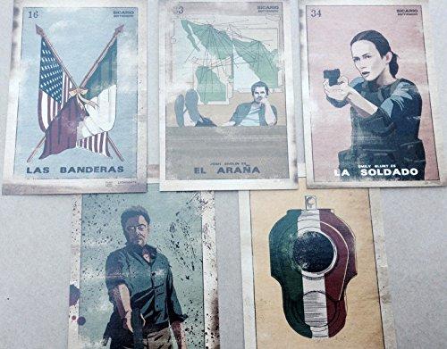 SICARIO Set of 5 Loteria Cards Original Promo Movie Item SDCC 2015 Comic Con