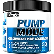 Evlution Nutrition Pump Mode Nitric Oxide Booster to Support Intense Pumps, Performance and Vascularity, 30 Serving, Unflavored (1-Pack)