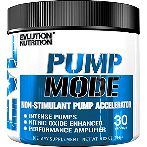 Evlution Nutrition Pump Mode Nitric Oxide Booster to Support Intense Pumps, Performance and Vascularity (Unflavored, 30 Servings)