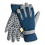 Dig It Gardening Gloves with Fingertip Pillow-top Protection for All Types of Gardening Chores and Other DIY Activities (Blue/Grey, X-Large)