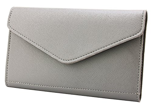 Krosslon Rfid Travel Passport Wallet Holder Tri-fold Document Wristlet Organiser Bag, Quartz Grey