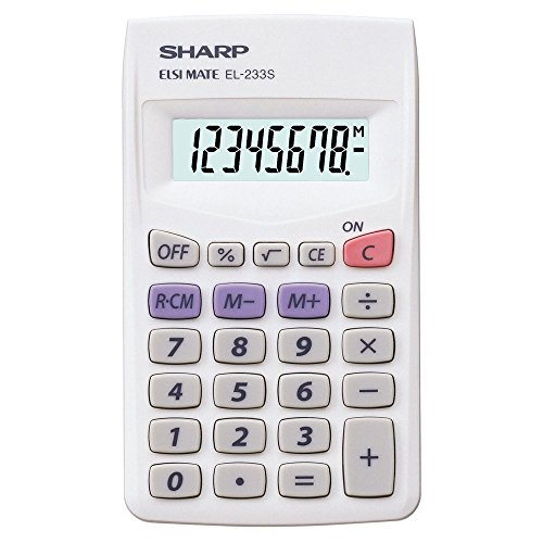 Sharp Hand-Held Calculator 8 Digit