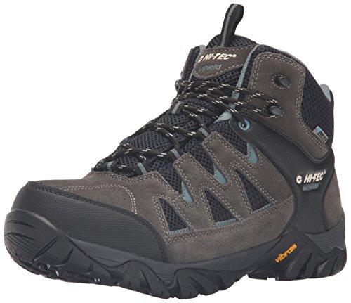 Hi-Tec Men's Sonorous Mid II I Waterproof Hiking Boot, Gull Grey/Black/Goblin Blue, 11 D US