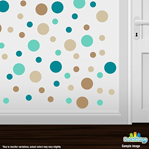 brown and turquoise wall decals - 7