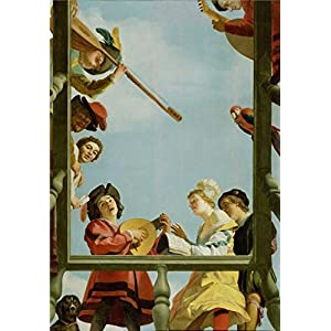 Oil Painting 'Musical Group On A Balcony,1622 By Gerrit Van Honthorst' 12 x 17 inch / 30 x 44 cm , on High Definition HD canvas prints is for Gifts And Bath Room, Foyer And Kitchen Decoration, prices