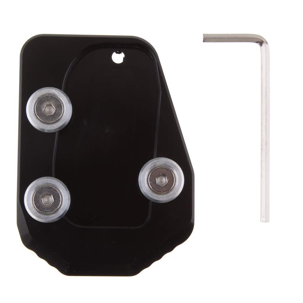 Sharplace Pad Estensione Cavalletto Piastra CNC Accessorio Nero Per Ducati Diavel 1200